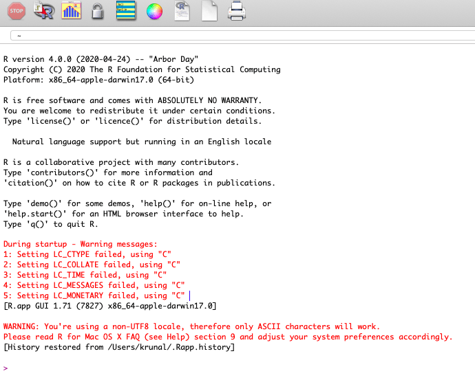 Install R in Mac