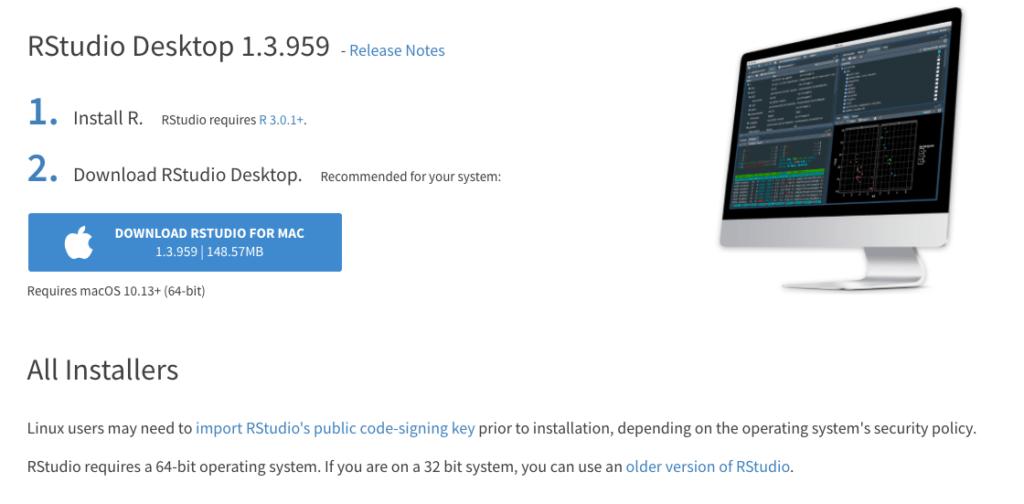 Install RStudio on macOS