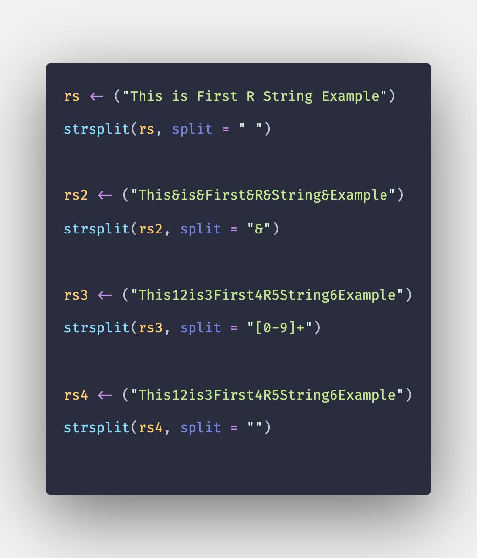 Strsplit R - How to Split String in R using strsplit() Function