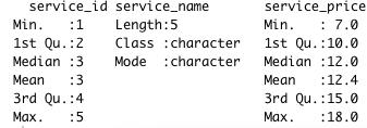 Summary of R Data Frame