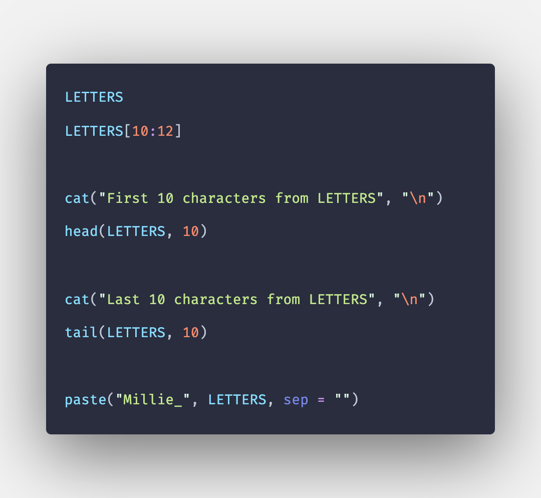LETTERS in R with Example
