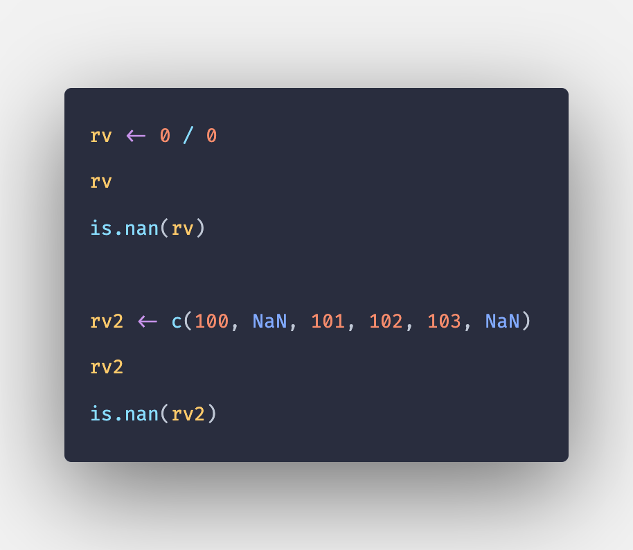 NaN in R - Not a Number Value and is.nan() Method