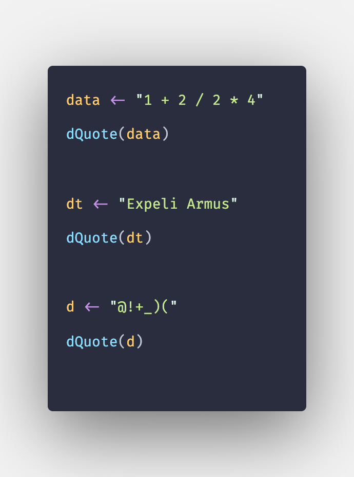dQuote() Function in R with Example