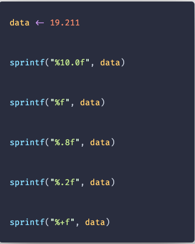 sprintf() Function in R with Example